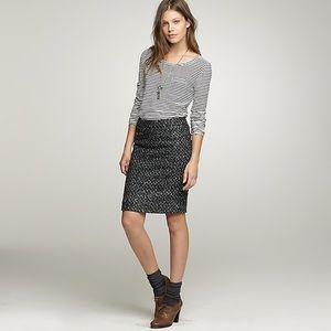 J Crew Moss Tweed Pencil Skirt {Size 2}